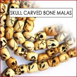 Skull Carved Bone Malas (5)