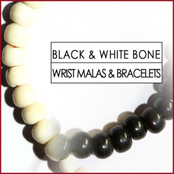 Black & White Bone Wrist Malas (19)
