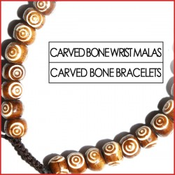 Carved Bone Wrist Malas (16)