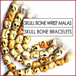 Skull Carved Bone Wrist Malas (0)