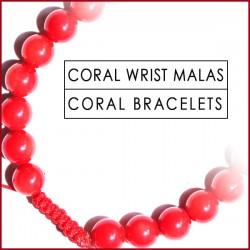 Coral Stone Wrist Mala (5)