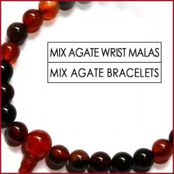 Mix Agate Stone Wrist Mala (9)