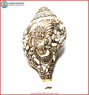 """Mahakala"" Natural Conch Shell"