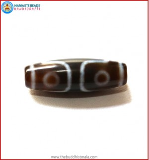 Three Eye Tibetan Dzi Bead