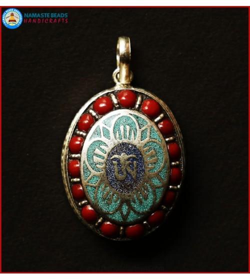 """""""Tibetan OM"""" & White Metal Ghau"""
