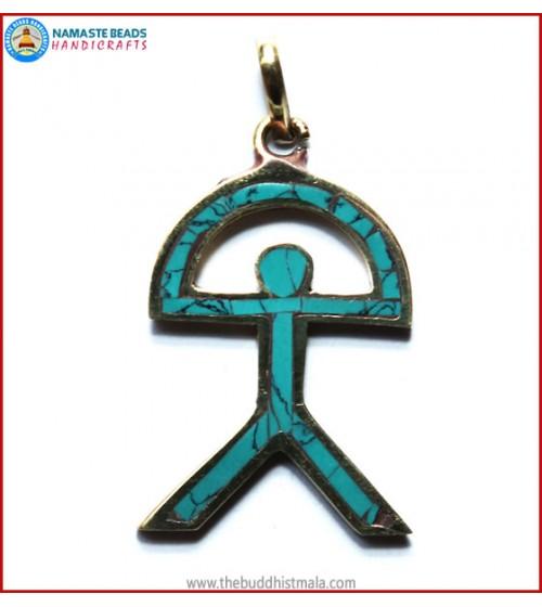 Brass & Turquoise Pendant