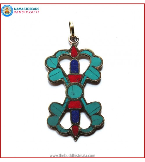 """Dorje"" Design Brass Pendant"