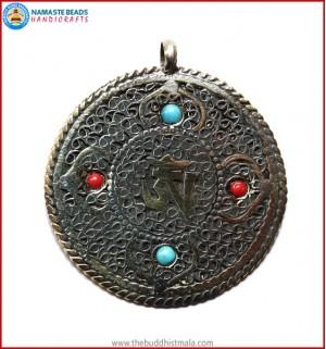 """Tibetan OM"" Symbol Brass Pendant"