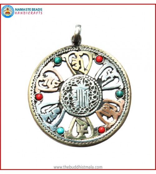 """kalachakra"" & ""Mantra"" Symbol Pendant"