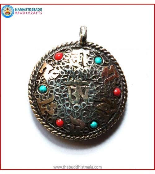 """Mantra"" & ""Tibetan OM"" Symbol Pendent"