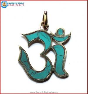 """Hindu OM"" Symbol Brass Pendant"