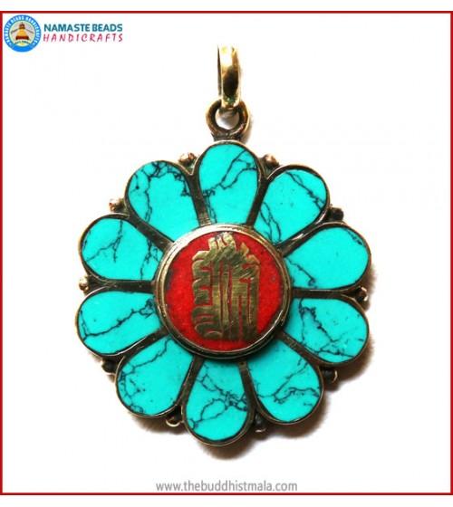 """Kalachakra"" Symbol Brass Pendant"
