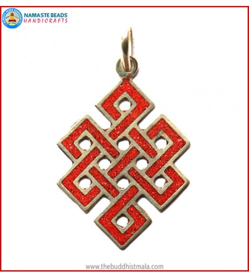 """Endless Knot"" White Metal Pendant"