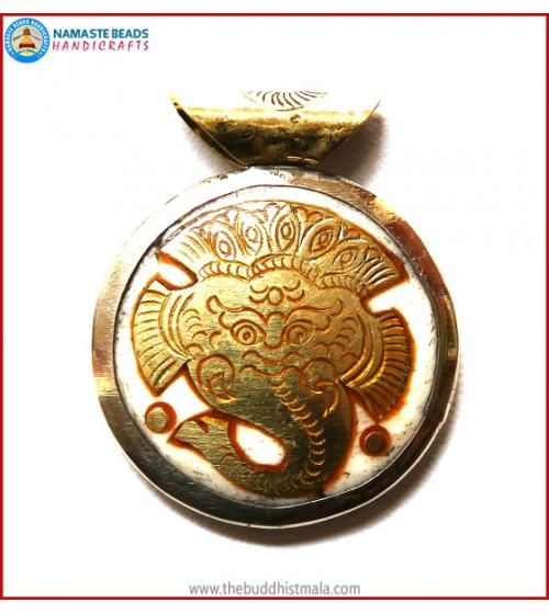"""Ganesha"" Symbol Bone Pendant"