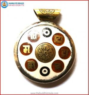 """""""Sanskrit Mantra"""" Bone Pendant"""