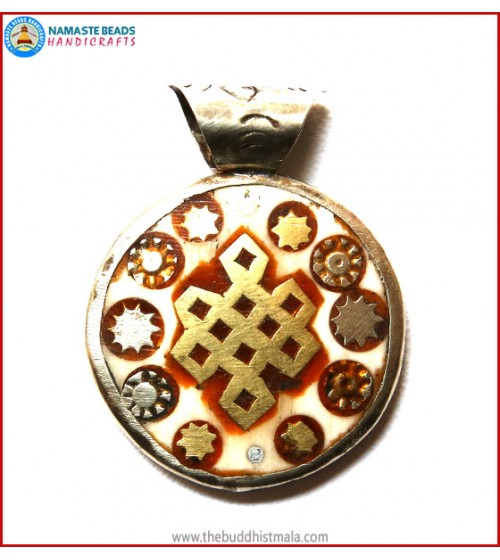 """Endless Knot"" Symbol Bone Pendant"