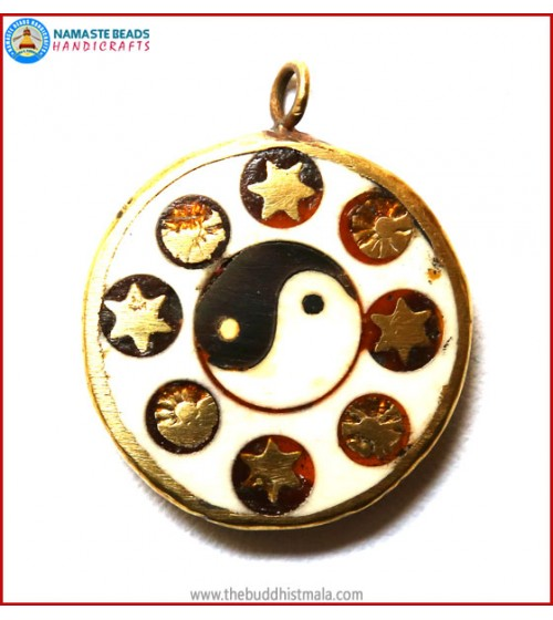 """Ying Yang"" Symbol Bone Pendant"