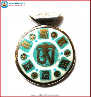 """Tibetan OM"" Symbol Bone Pendant"
