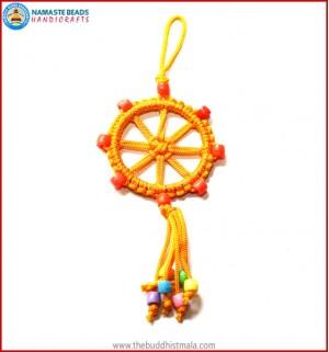 Yellow String Dharma Wheel