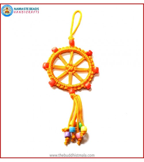 Yellow String Dharma Wheel