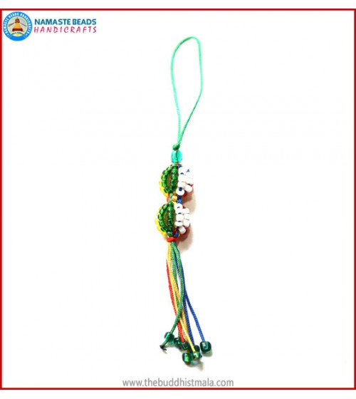 String & Glass Beads Key Ring