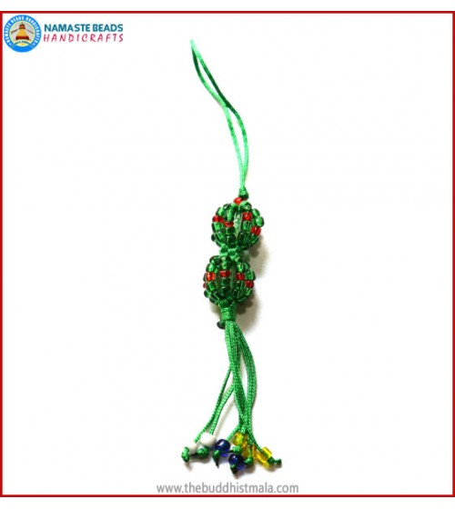 String & Glass Beads Key Ring