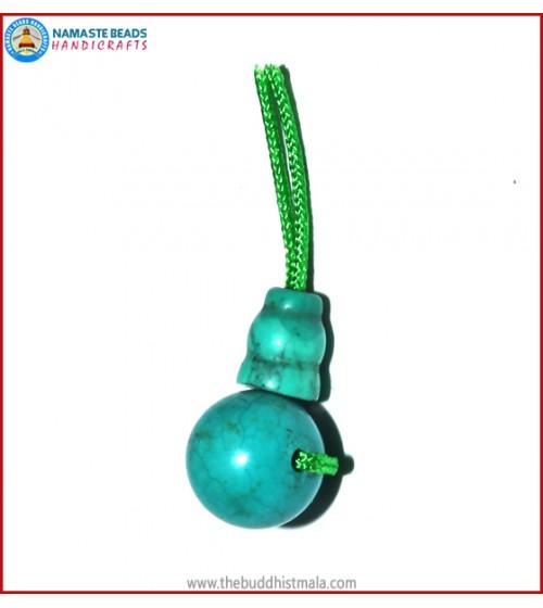 Turquoise Stone Guru Bead