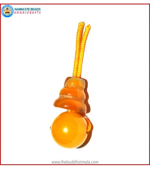 Yellow Jade Guru Bead