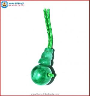 Green Jade Guru Bead