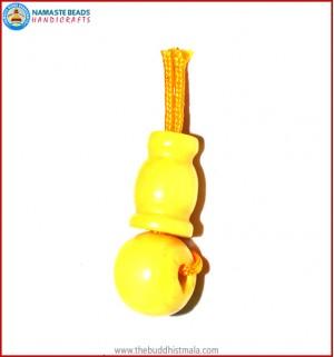 Yellow Color Bone Guru Bead