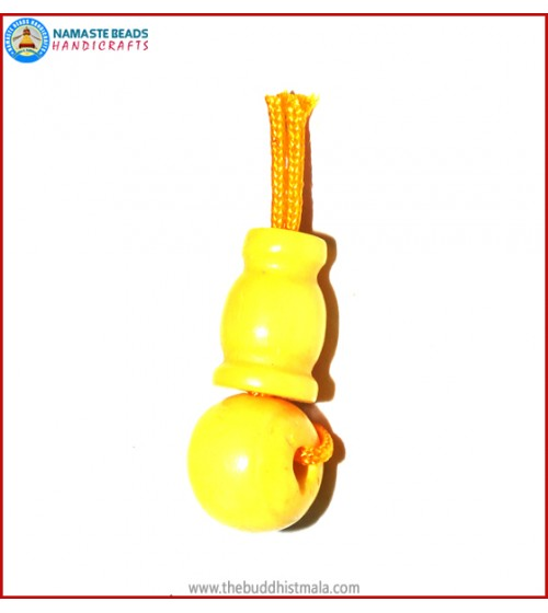 Yellow Color Bone Guru Bead