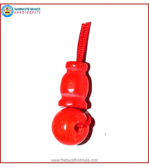 Red Bone Guru Bead