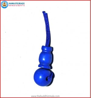 Blue Colored Bone Guru Bead