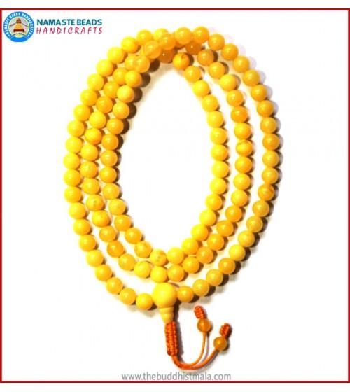 Yellow Amber Mala