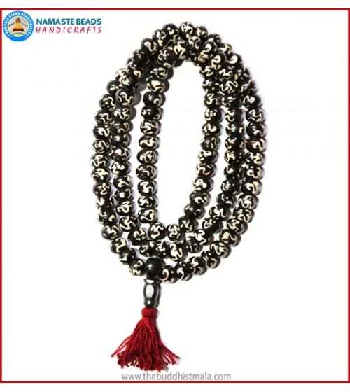 "Tibetan ""OM"" Itching Bone Mala"