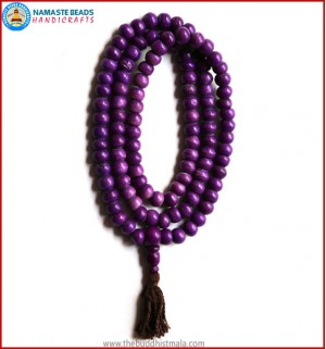 Purple Bone Mala