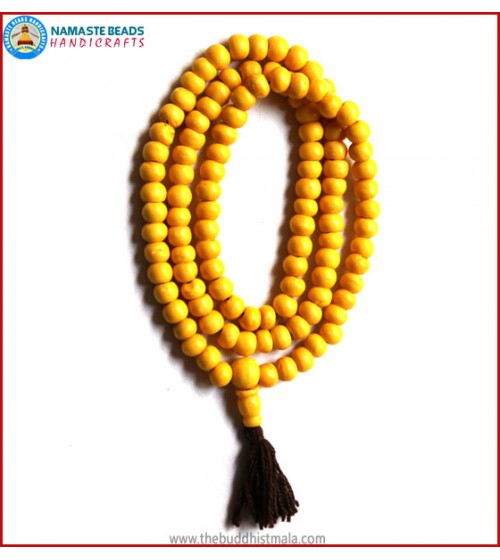 Yellow Bone Mala