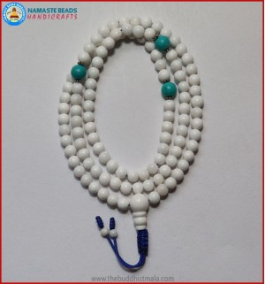 Conch Shell Mala With Turquoise Spacer Beads