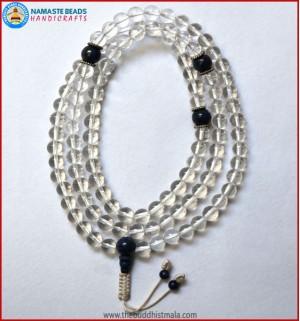 Crystal Mala With Lapis Lazuli Guru Bead