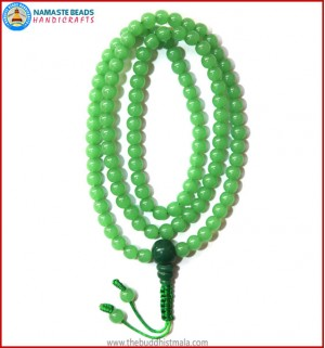Green Glass Mala