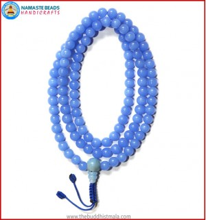 Light Blue Glass Mala