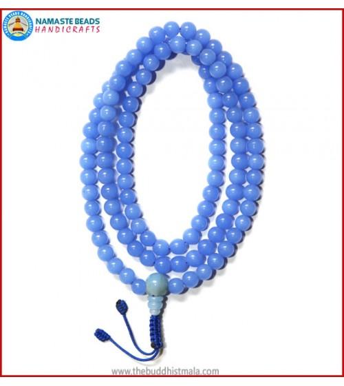 Light Blue Glass Mala