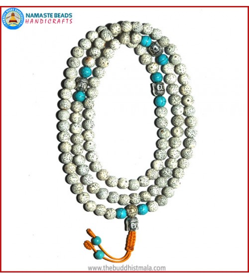 Lotus Seed Mala with Buddha Head
