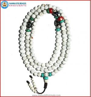 Lotus Seed Mala with Dzi Beads