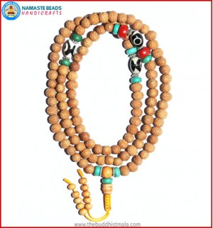 Raktu Seed Malal with Dzi Beads