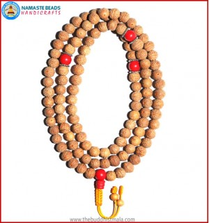 Raktu Seed Malal with Coral Guru Bead