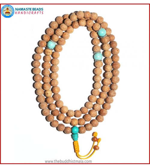 Raktu Seed Malal with Turquoise Guru Bead