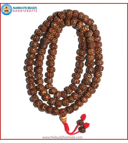 Smooth Brown Rudraksha Seed Mala