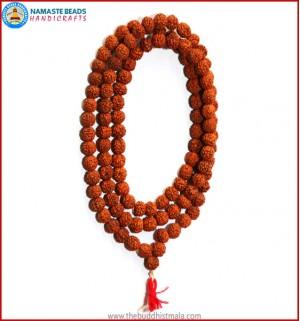 Hand knoted Rudraksha Seed Mala