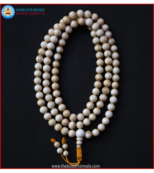 Vintage Conch Shell Mala with Beaded Tassel